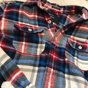 Men's American Eagle Red/Blue Plaid Long Sleeve